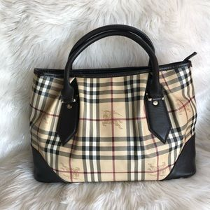 💯% Authentic Burberry Haymarket Check Tote Bag